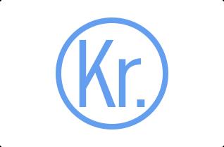 Danish krone symbol