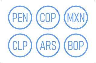 LATAM region currencies symbols